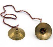 Paire de cymbales indiennes, en bronze : diamètre 5,5 cm – Prix : 32,30 CHF