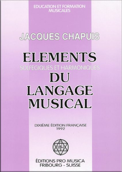 Jacques Chapuis - Pédagogie Willems - Editions Pro Musica